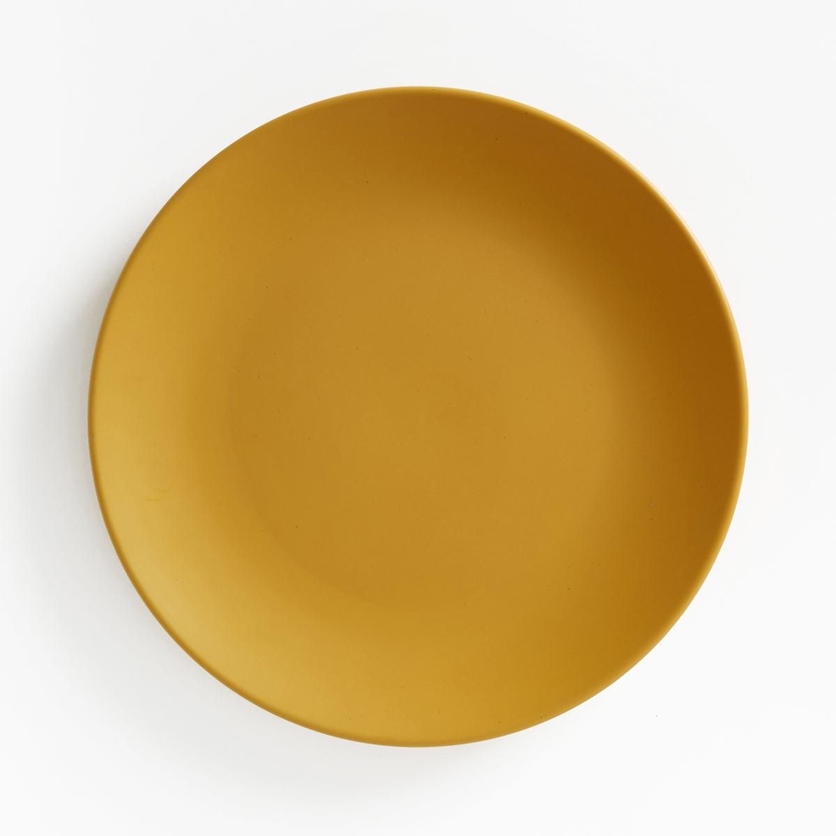 Комплект из 4 мелких тарелок из фаянса с матовой отделкой, M?lya4 мелкие тарелки из фаянса с матовой отделкой M?lya. Завтрак, обед или ужин, La Redoute Int?rieurs Вас приглашает к столу.Характеристики 4 мелких тарелок из фаянса с матовой отделкой M?lya :- Из фаянса с матовой отделкой  .- Диаметр 26,7 см  .- Можно использовать в посудомоечных машинах и микроволновых печах.Десертные и глубокие тарелки M?lya представлены на сайте laredoute.ru<br><br>Цвет: антрацит,бледно-зеленый,горчичный<br>Размер: единый размер