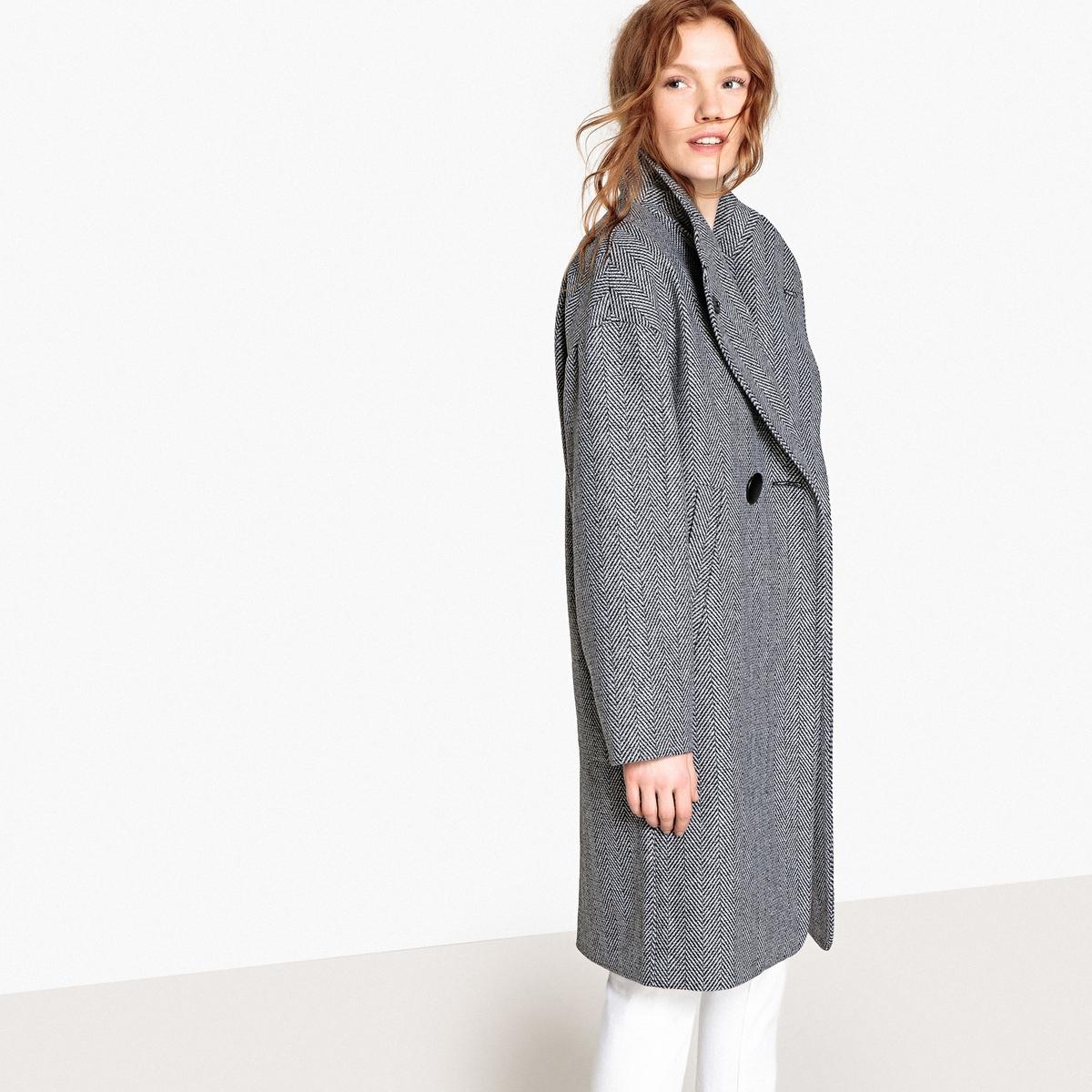 Abrigo de cuello alto de lana mezclada