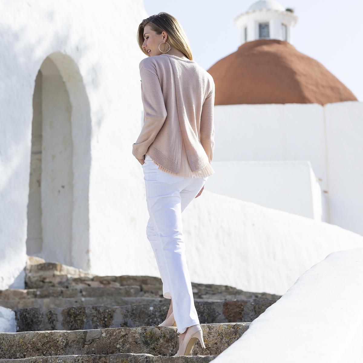 Imagen adicional de producto de Pantalón recto de 5 bolsillos de algodón stretch - Anne weyburn