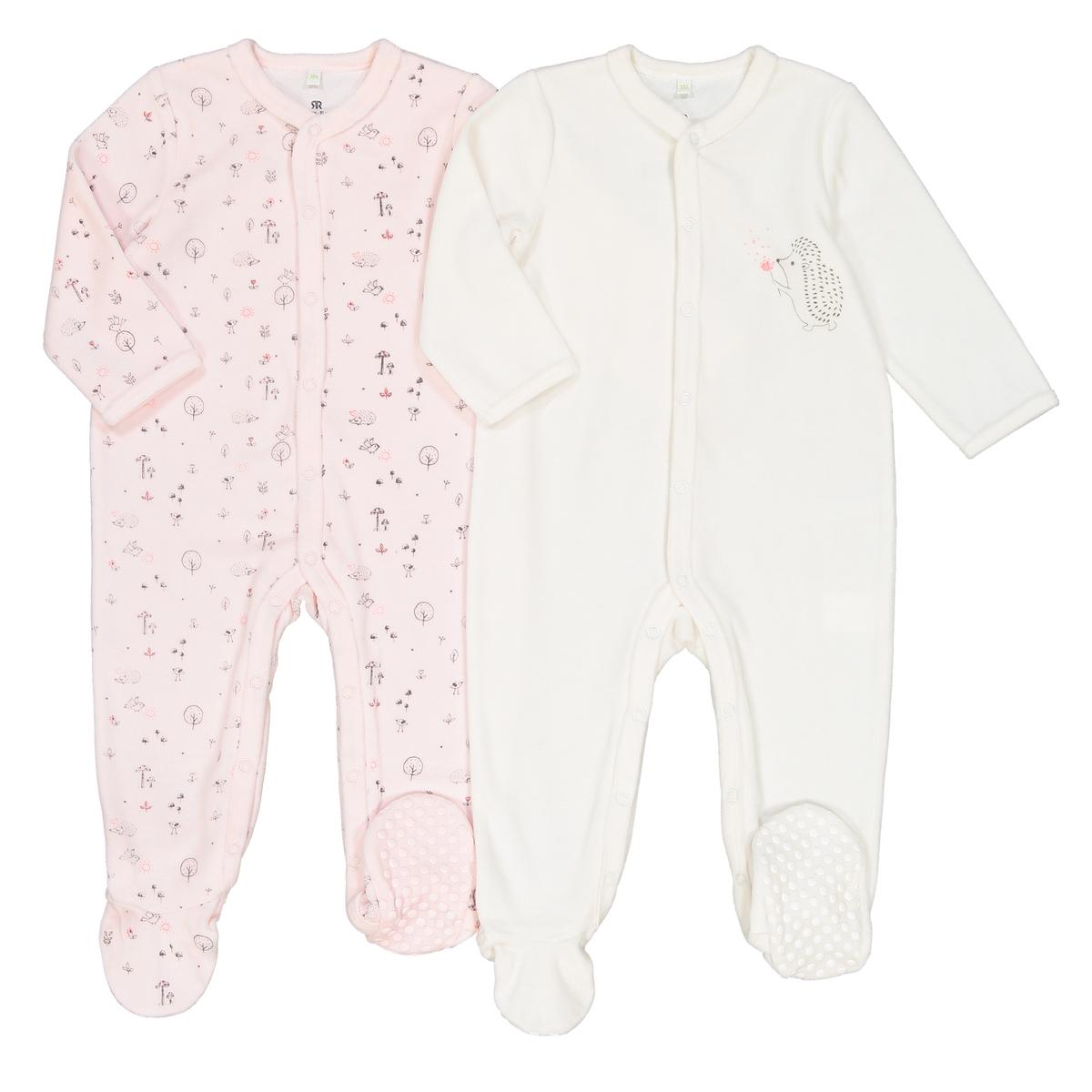 цена Комплект из пижам для La Redoute Новорожденных мес - года 2 года - 86 см белый онлайн в 2017 году