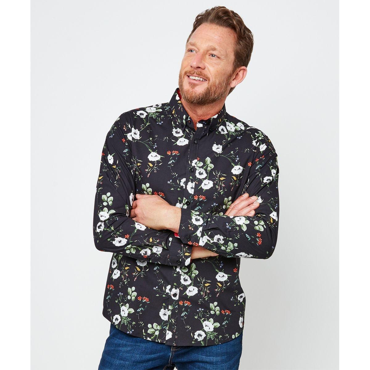 Chemise à imprimé floral audacieux