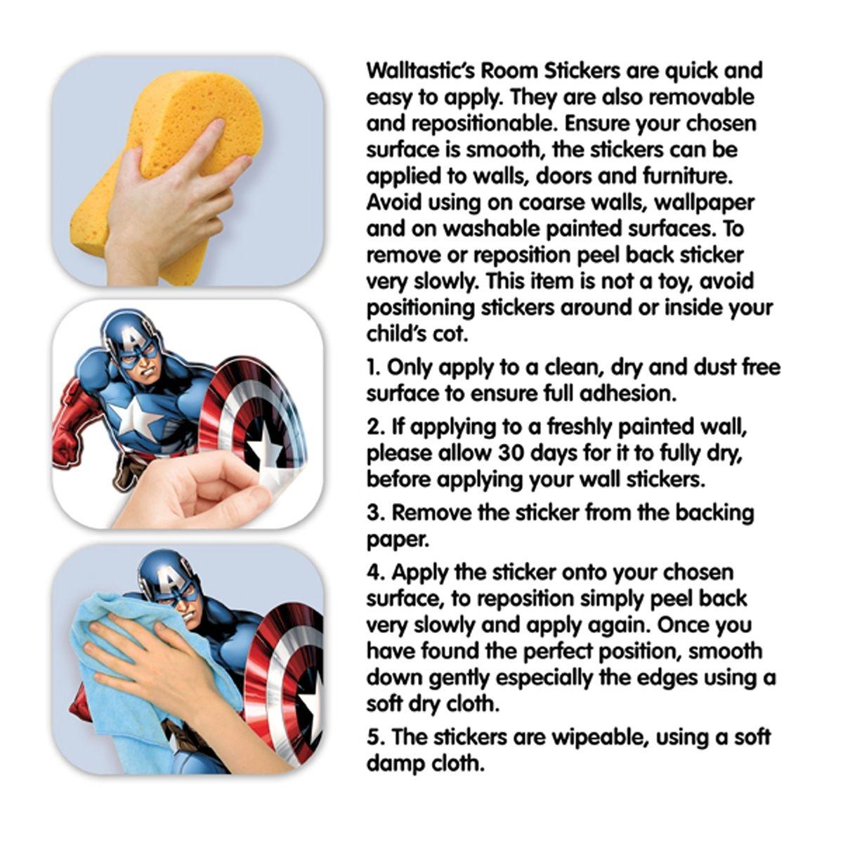 66 Stickers Avengers Marvel Walltastic