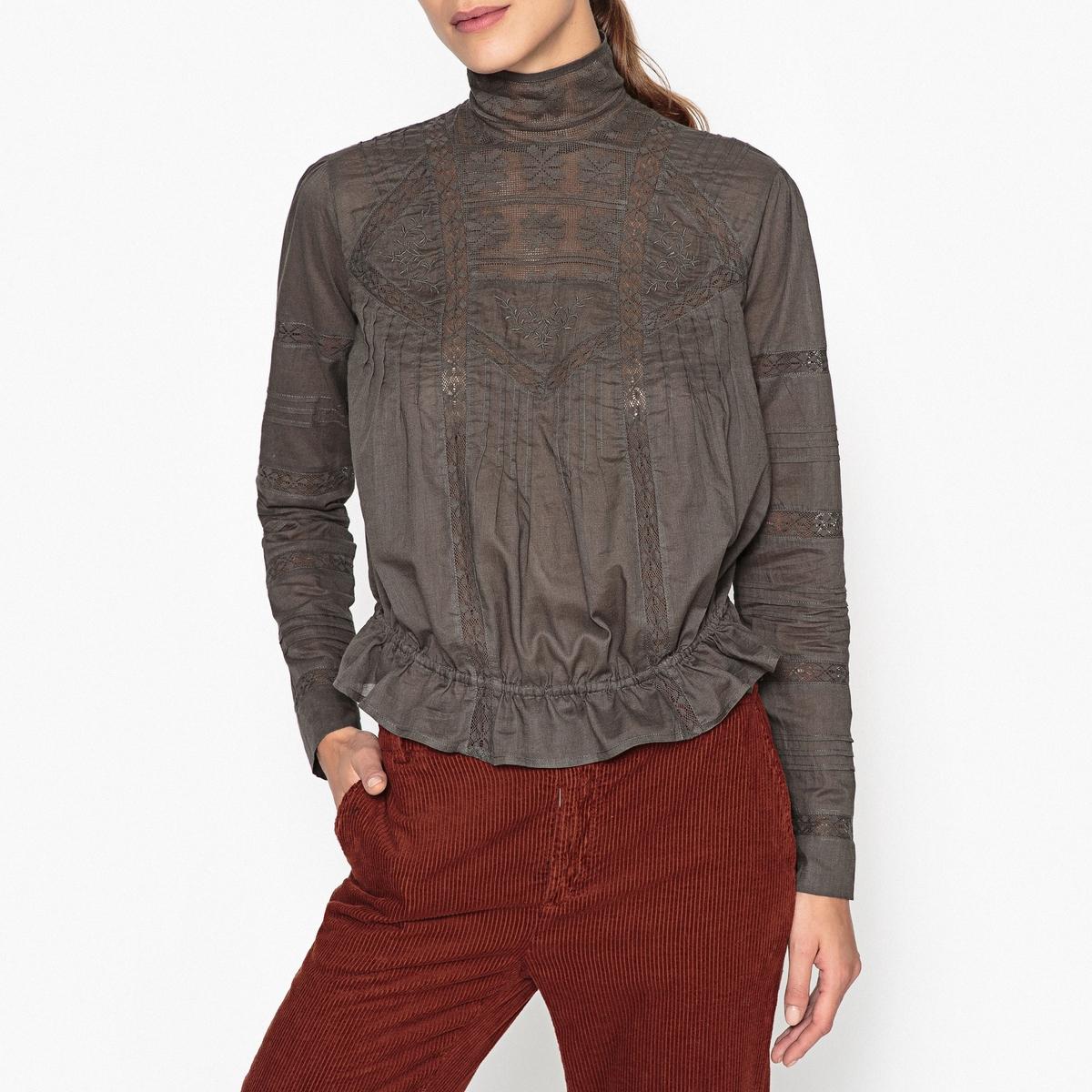 Блузка с воротником-стойкой CELESTINE