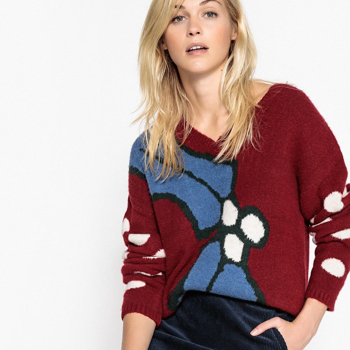 Пуловер для Рождества с V-образным вырезом