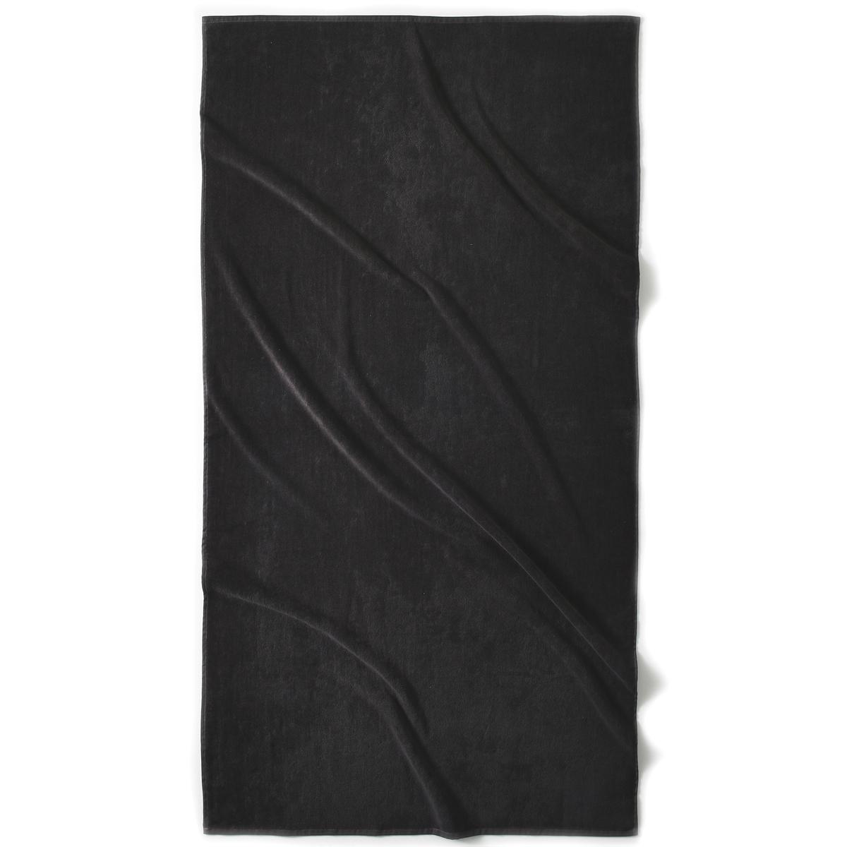 Полотенце La Redoute Пляжное из велюра гм SCENARIO единый размер серый комплект из полотенце для la redoute рук из хлопка и льна nipaly 50 x 100 см белый