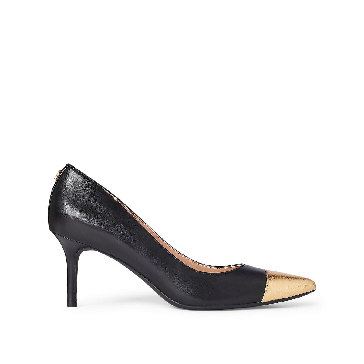 Туфли LaRedoute Из кожи на каблуке-шпильке 36 черный