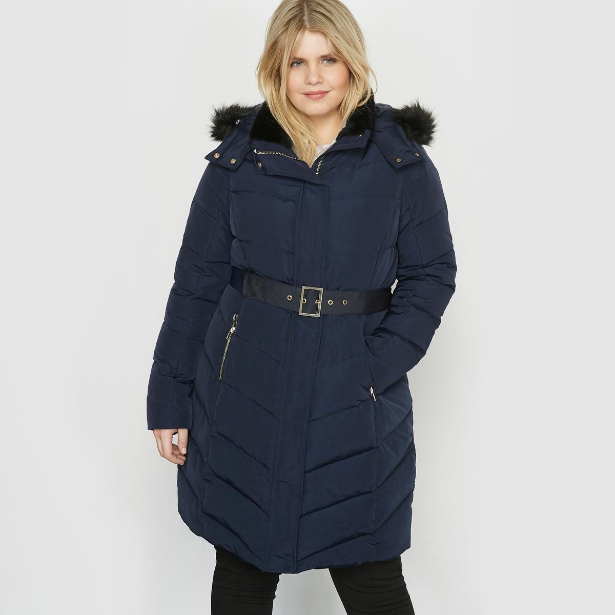 Куртка стеганая с капюшономВам понравится эта длинная куртка с капюшоном. Длинную куртку с капюшоном легко сочетать. Незаменима в гардеробе!Детали •  Длина  : удлиненная модель •  Капюшон  •  Застежка на молнию •  С капюшоном Состав и уход •  100% полиэстер •  Подкладка : 100% полиэстер •  Температура стирки 30° на деликатном режиме   •  Деликатная сухая чистка / не отбеливать •  Не использовать барабанную сушку •  Не гладить  Товар из коллекции больших размеров<br><br>Цвет: темно-синий,черный<br>Размер: 48 (FR) - 54 (RUS).46 (FR) - 52 (RUS).50 (FR) - 56 (RUS).56 (FR) - 62 (RUS).52 (FR) - 58 (RUS).58 (FR) - 64 (RUS)