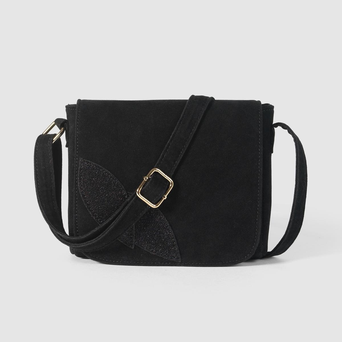 Дамская сумочкаСостав и описаниеМатериал             верх : 100% полиэстера                          подкладка : 100% полиэстераМарка  Mademoiselle RРазмер :   15 x 17 x 4 смРегулируемый плечевой ремень1 внутренний карман на молнии.<br><br>Цвет: черный<br>Размер: единый размер