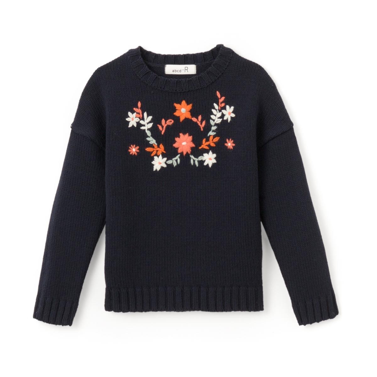 Пуловер с вышивкой 3-12 лет