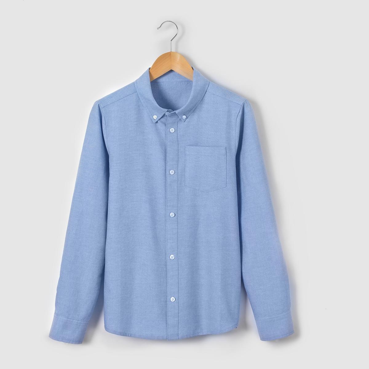 Рубашка Oxford 10-16 летСостав и описаниеМатериал: 100% хлопок.Марка: R essentielУходСтирать и гладить с изнанкиМашинная стирка при 30°С на умеренном режиме с одеждой схожих цветовМашинная сушка на обычном режиме.Гладитьпри умереннойтемпературе<br><br>Цвет: синий