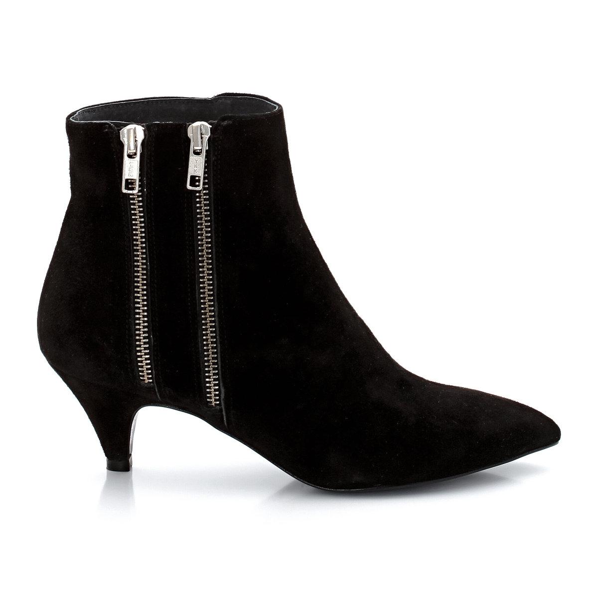 Ботинки кожаные ALEIAБотинки модели ALEIA марки JONAK. Верх: телячья кожа. Подкладка: кожа. Стелька: кожа. Подошва: эластомер. Каблук: 5 см. Застёжка: 2 молнии по бокам<br><br>Цвет: черный<br>Размер: 37