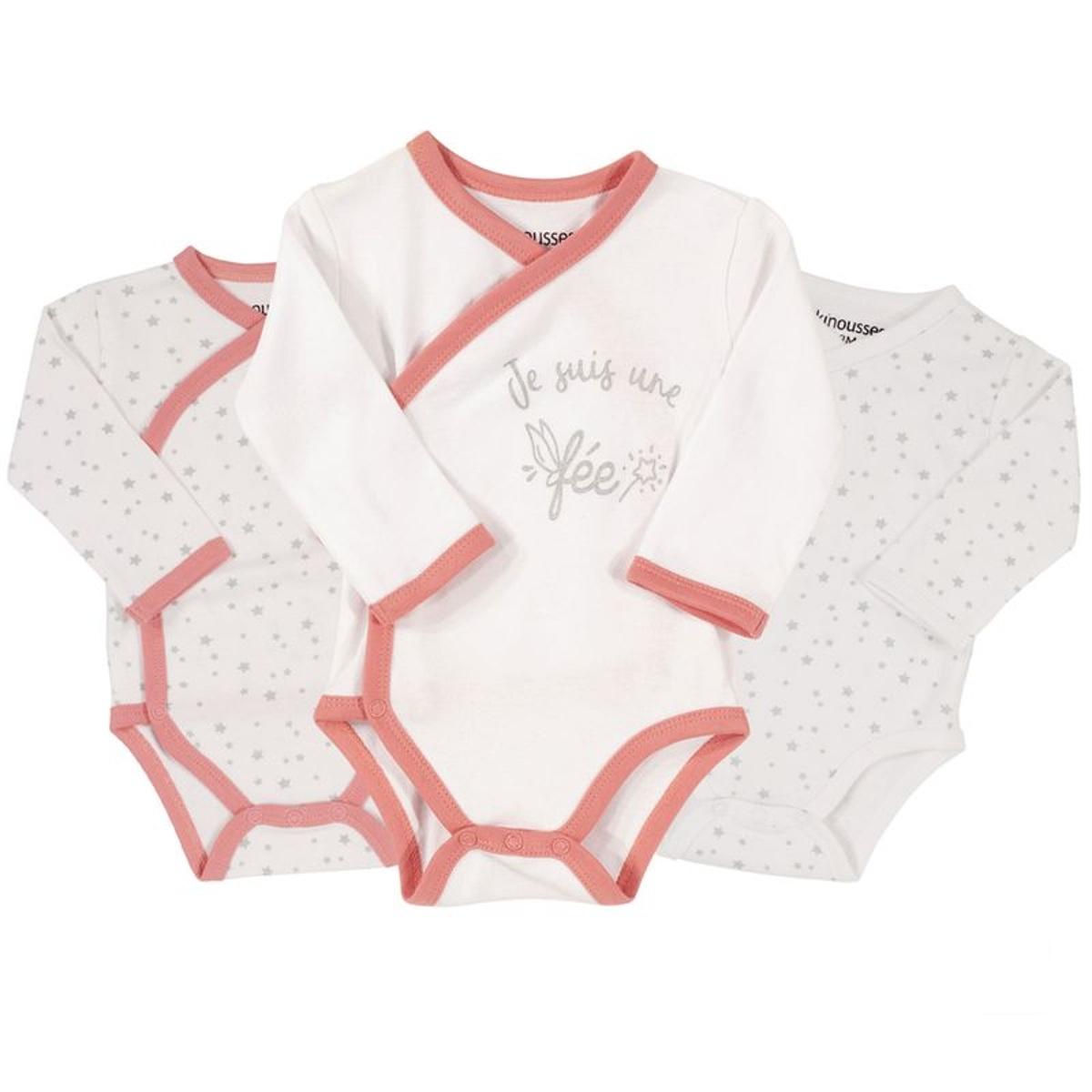 Bodies bébé - Fée (lot de 3)