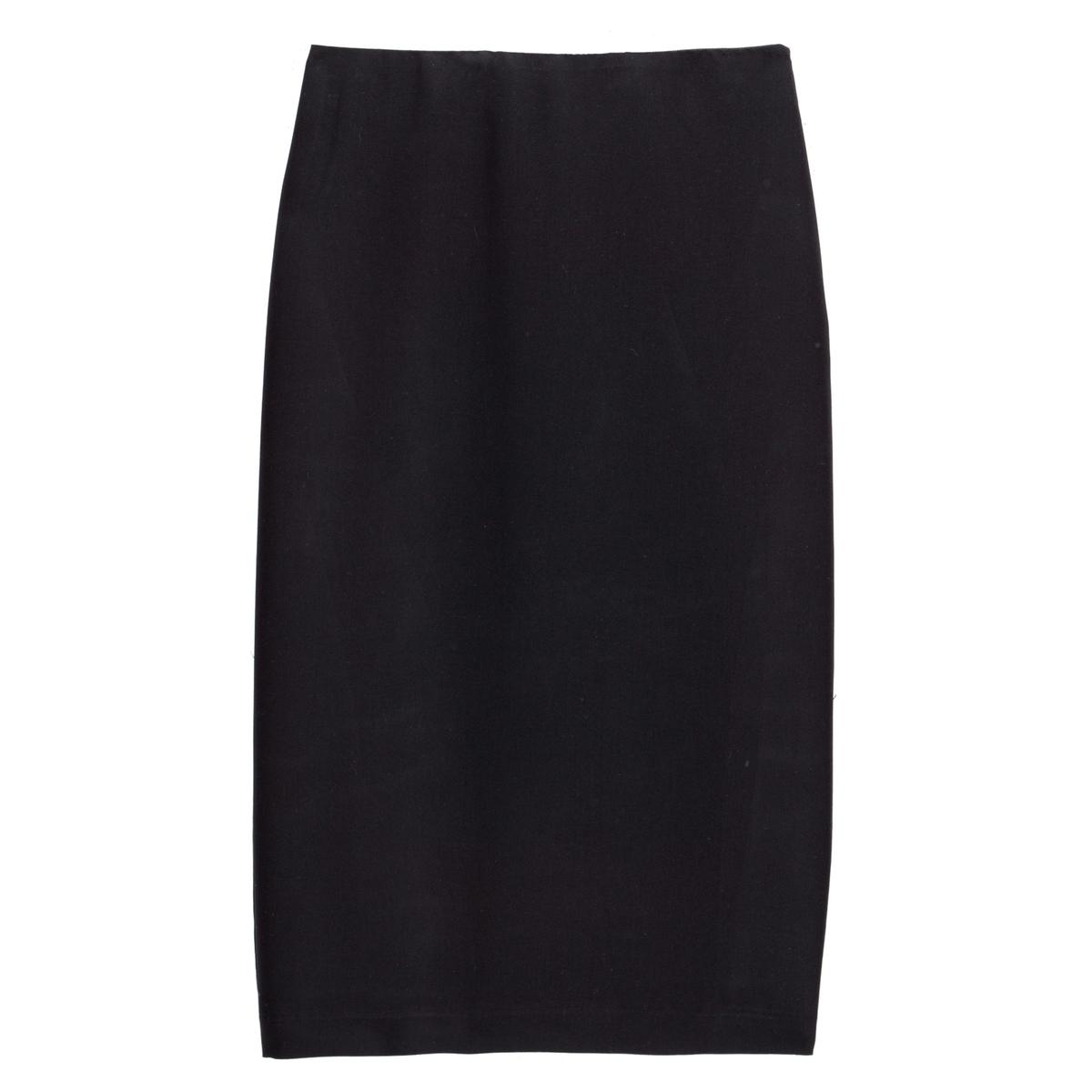Falda de tubo con largo bajo la rodilla