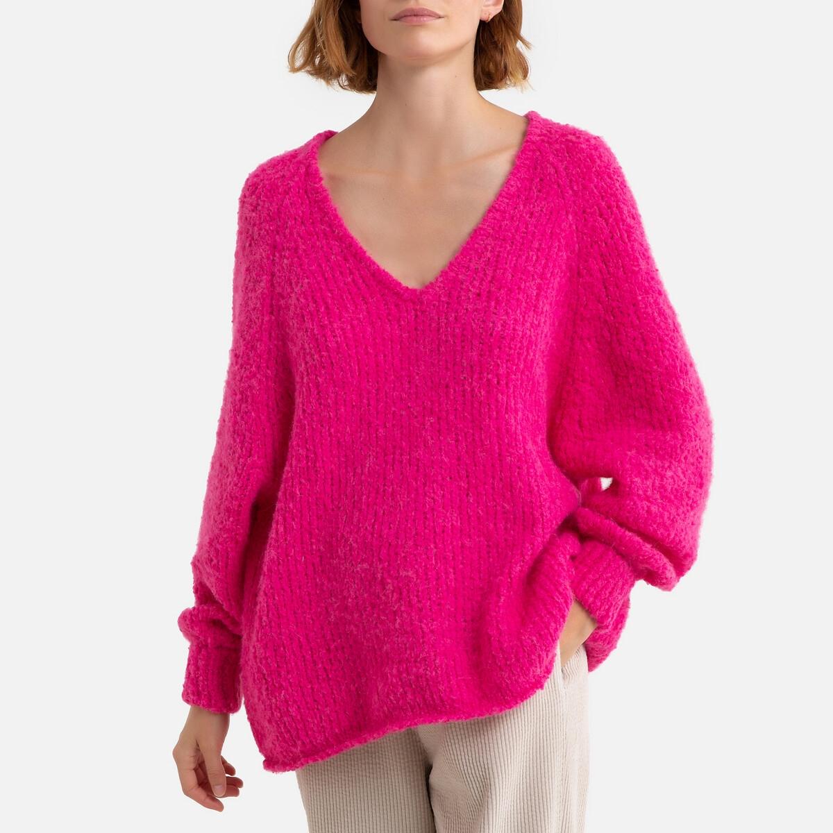 Фото - Пуловер La Redoute С V-образным вырезом из тонкого трикотажа TUDBURY M розовый пуловер la redoute с v образным вырезом из тонкого трикотажа florestine 2 m серый