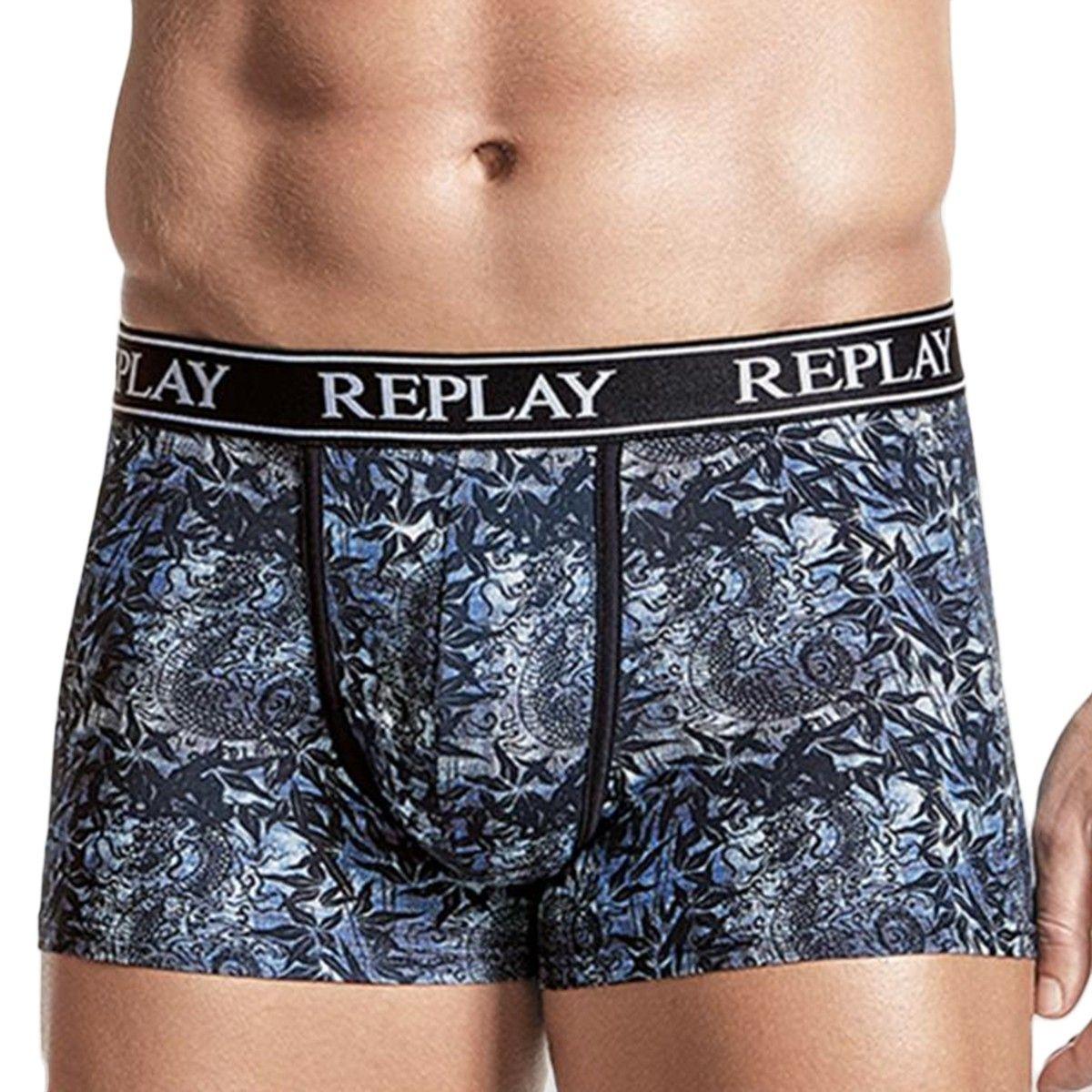 Boxer Replay en coton stretch à imprimé fantaisie  ,   et
