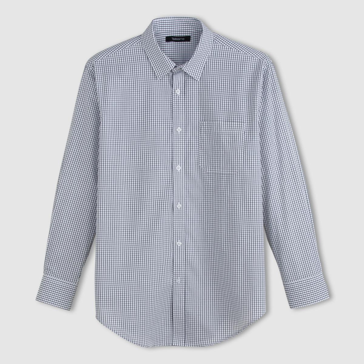 Рубашка из поплина с длинными рукавами, рост 3