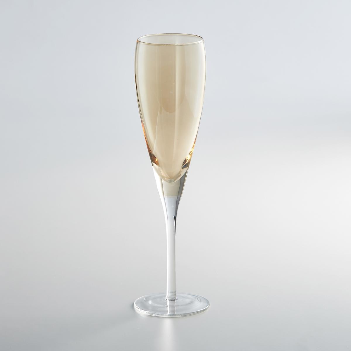 Комплект из 4 бокалов под шампанское, KOUTINEКомплект из 4 бокалов под шампанское Koutine La redoute Int?rieurs. Янтарный или темно-серый цвет для создания гармонии оттенков на вашем столе.Характеристики 4 бокалов под шампанское Koutine:Бокал под шампанское из стекла, выдуваемого с помощью ртаДиаметр : 7,5 смВысота : 26 см Ручная стирка.Продаются в комплекте из 4 штукНайдите всю коллекцию Koutine на нашем сайте laredoute.ru<br><br>Цвет: дымчато-серый,янтарь<br>Размер: единый размер.единый размер