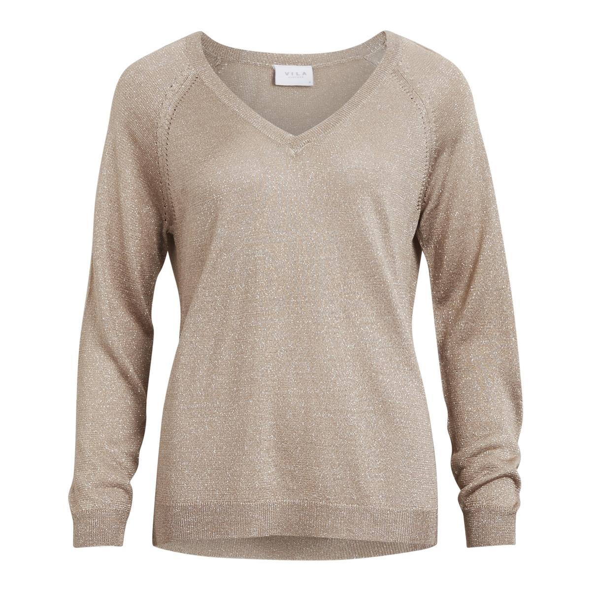 Пуловер из плотного трикотажа с V-образным вырезом