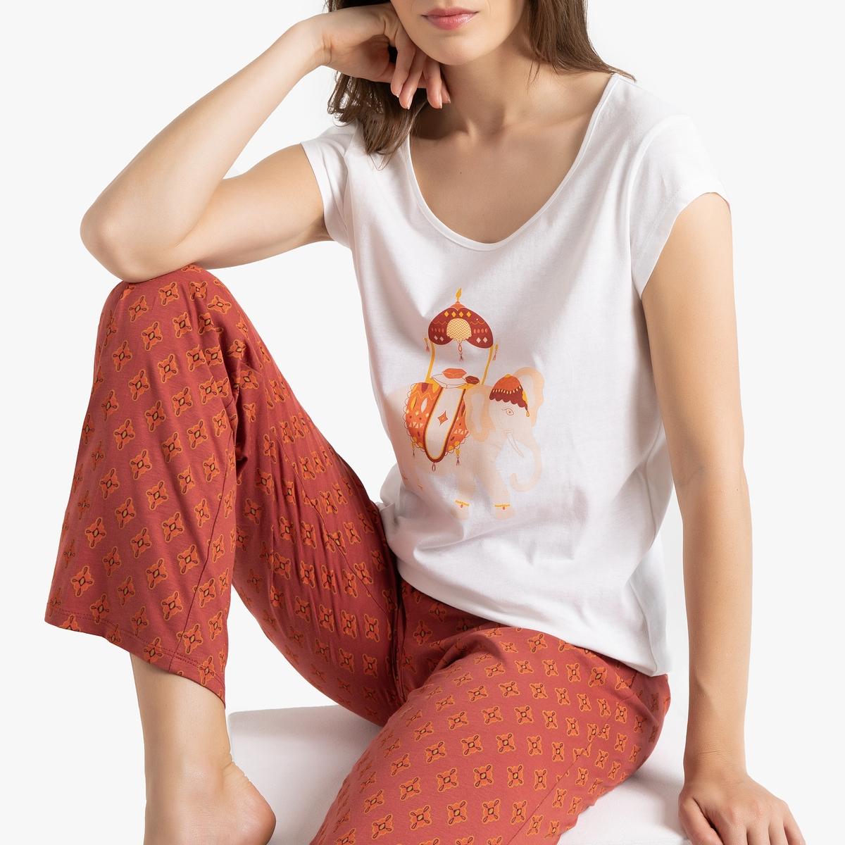Пижама La Redoute С принтом короткая 34/36 (FR) - 40/42 (RUS) белый пижама la redoute с принтом короткая 34 36 fr 40 42 rus белый