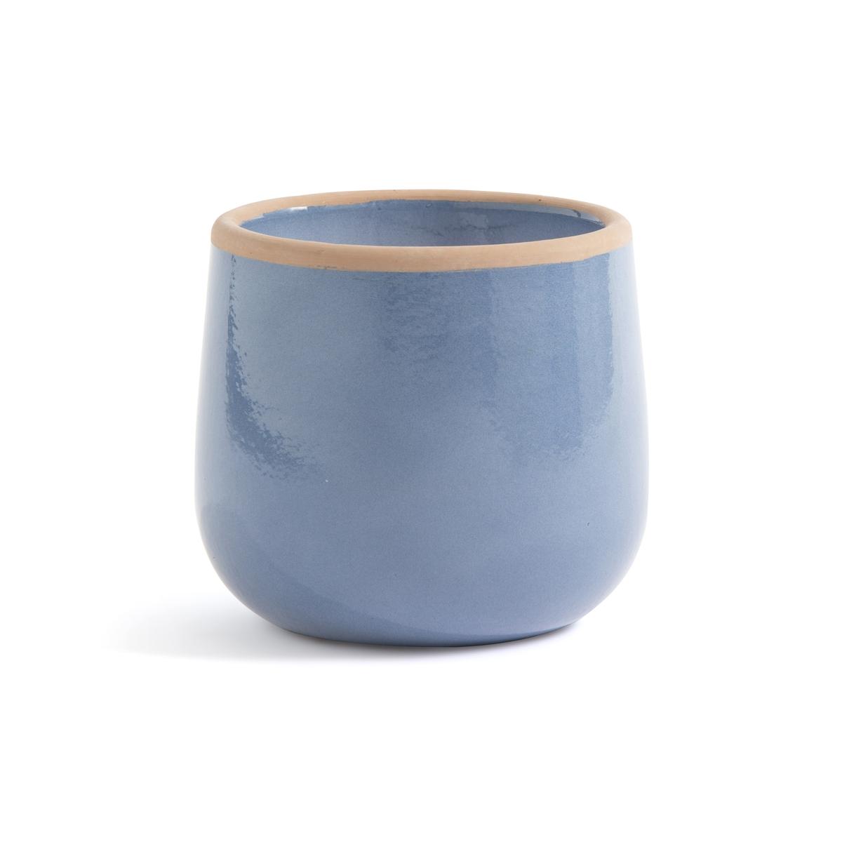 Кашпо La Redoute Из цветной керамики Mallow единый размер синий