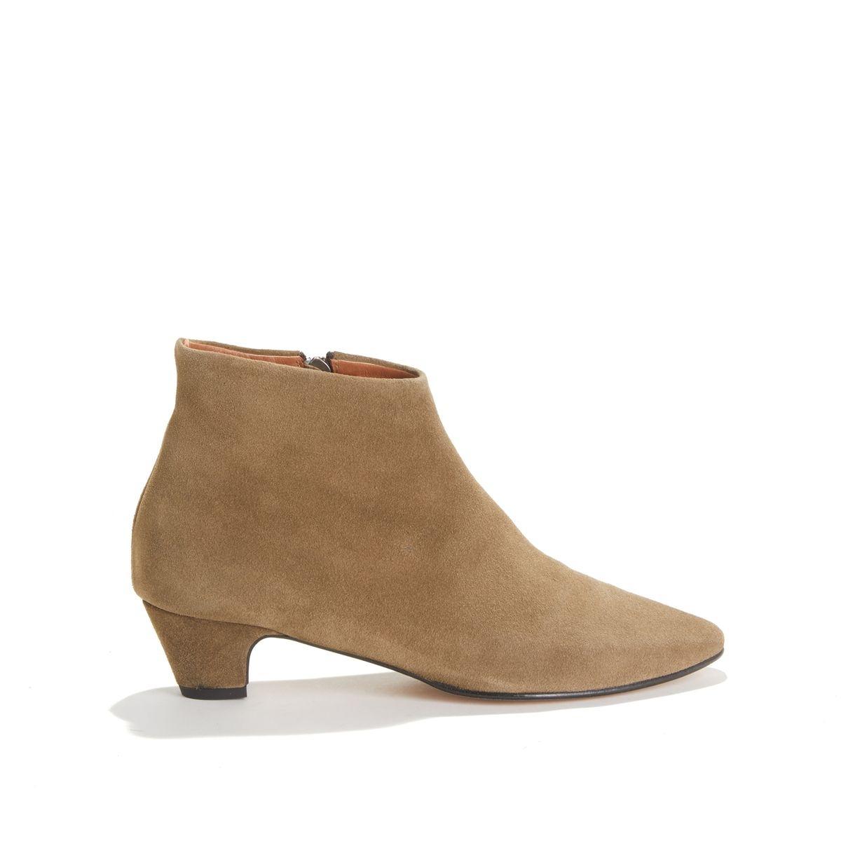 Boots à petit talon en cuir suédé KYRA SUEDE CALF