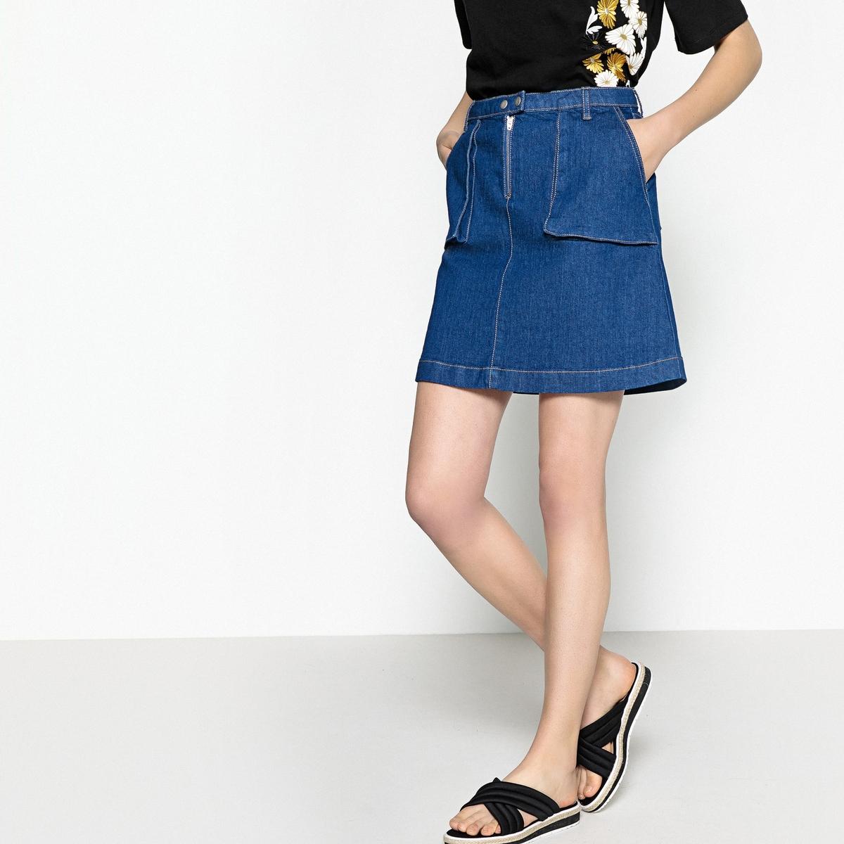 Юбка короткая из джинсовой ткани
