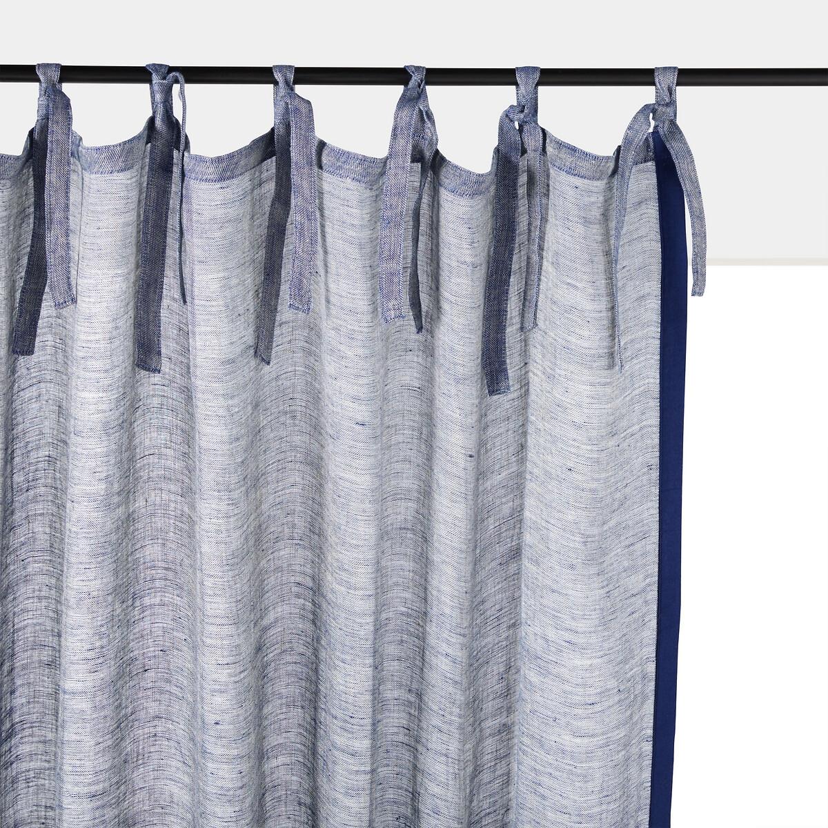 Занавеска LaRedoute Из льна шамбре Sivy 140 x 320 см бежевый занавеска la redoute лнбархат aasta 140 x 350 см синий