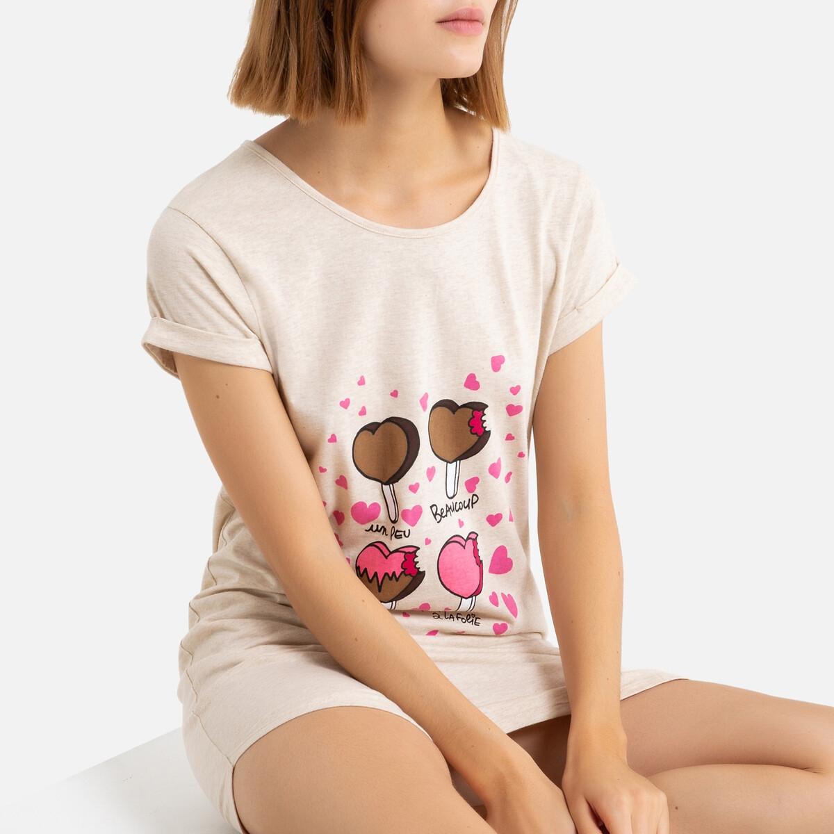 Рубашка La Redoute — Ночная Big tee Lovelies S бежевый