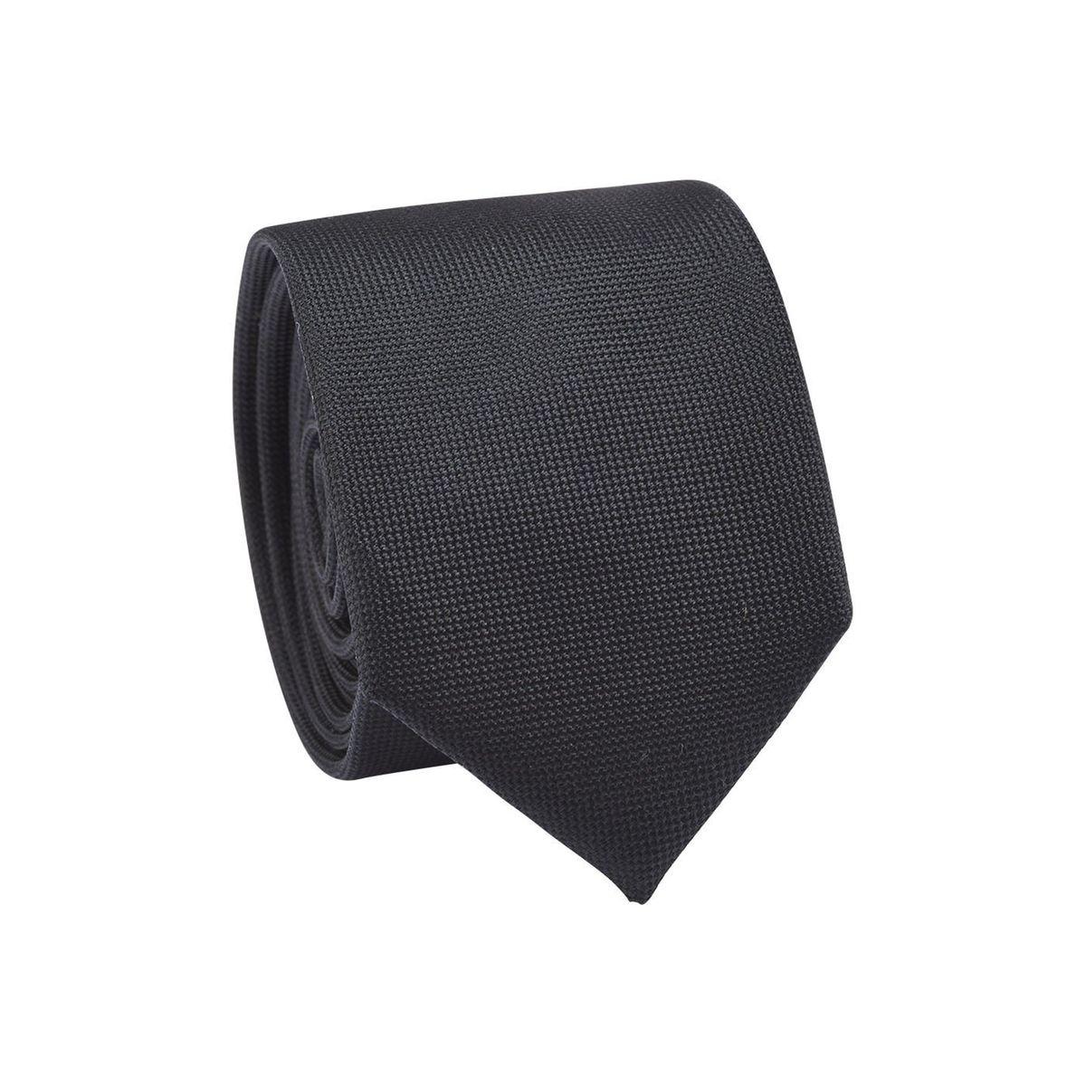 Cravate homme faux uni mini-carrés Noir