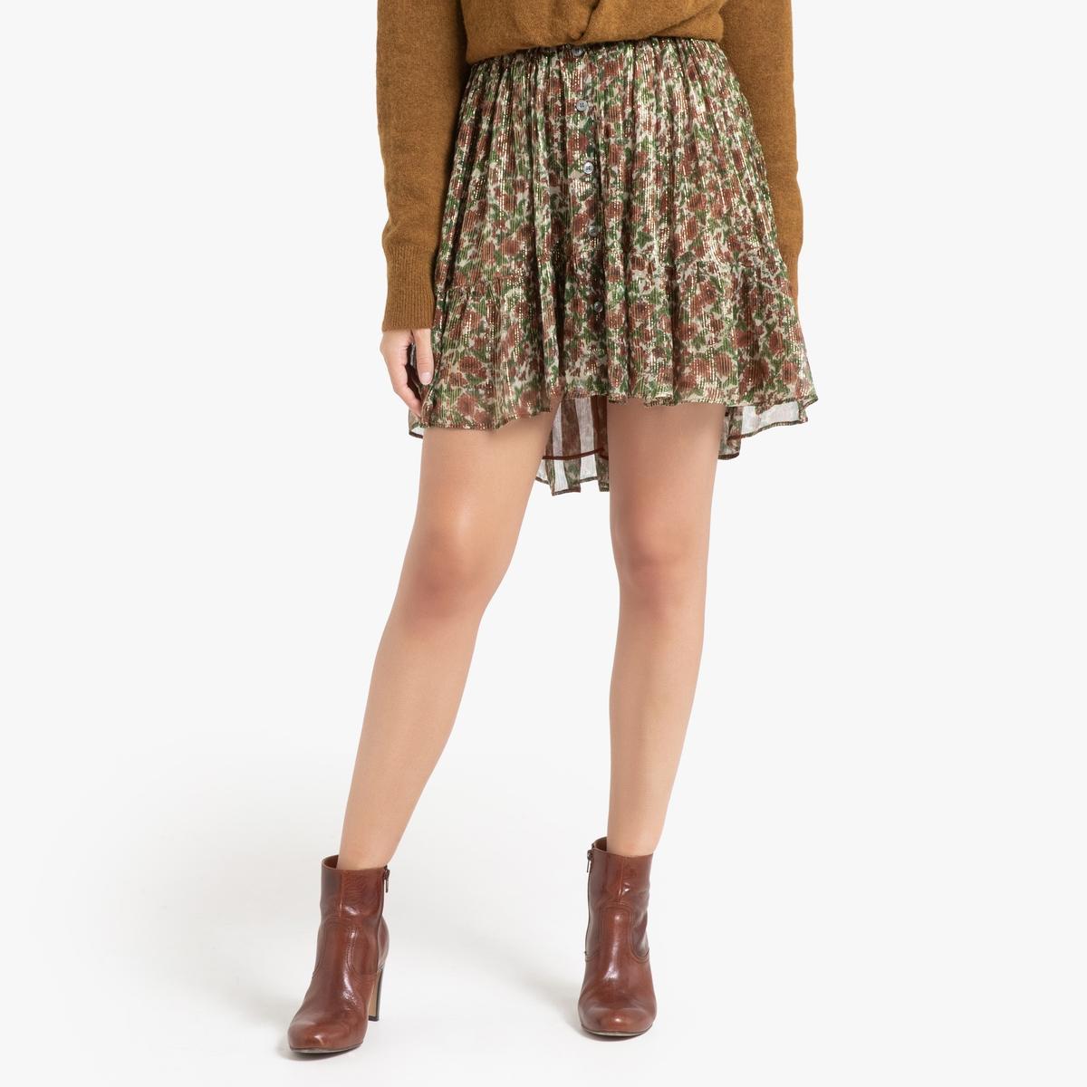 Юбка La Redoute Короткая блестящая GOMA LUREX 40 (FR) - 46 (RUS) разноцветный юбка жаккардовая короткая