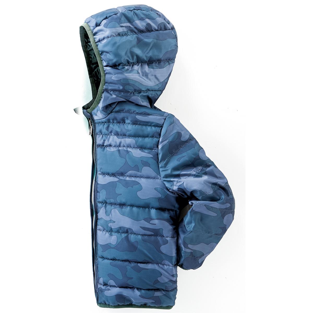 Куртка стеганая тонкая двухсторонняя, 3-12 лет