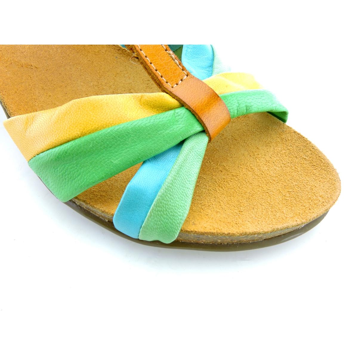 Босоножки кожаные LizВерх : кожа         Стелька : кожа         Подошва : эластомер         Высота каблука : 8 см         Форма каблука : квадратный каблук         Мысок : открытый мысок         Застежка : пряжка<br><br>Цвет: разноцветный<br>Размер: 39.38.37