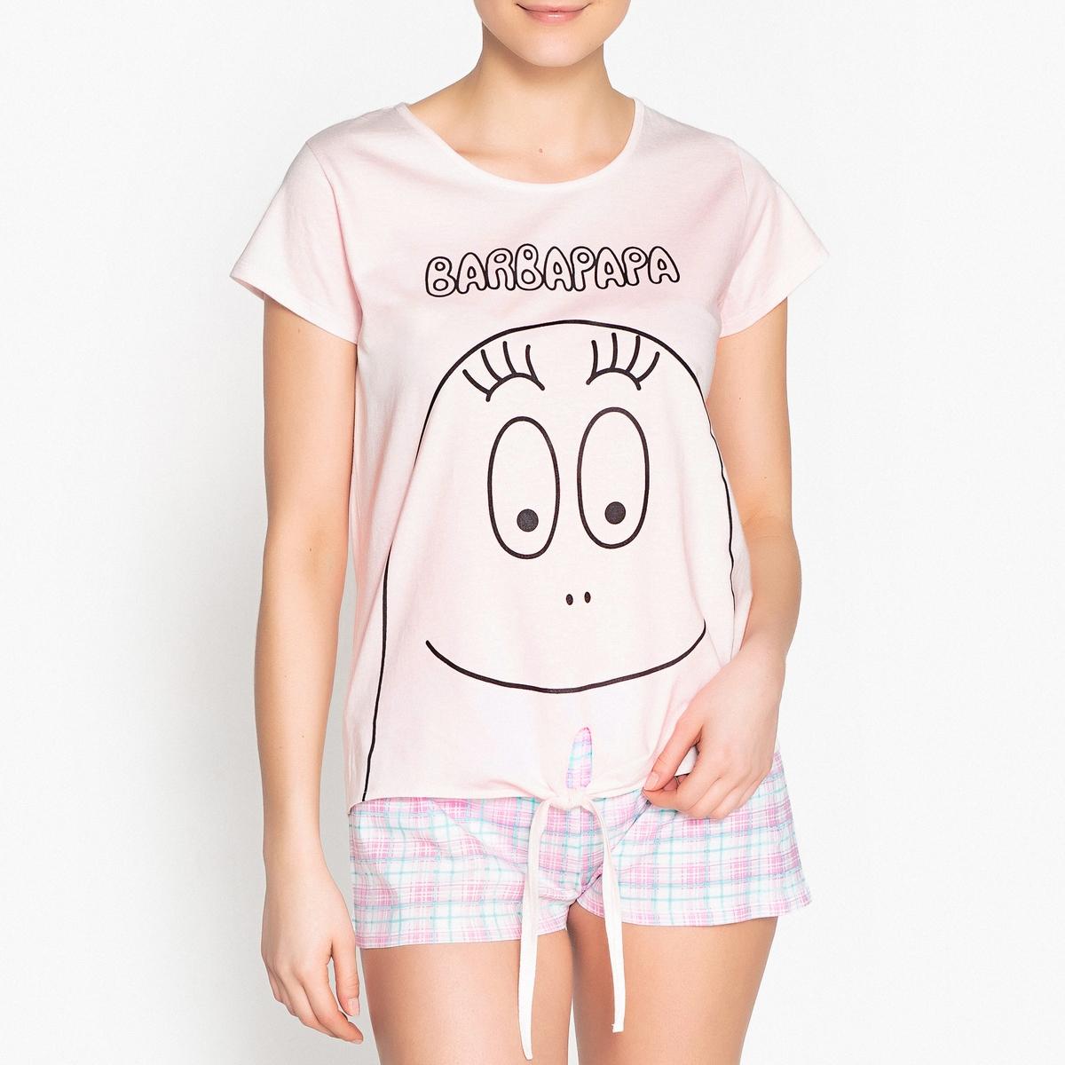 Пижама из хлопка с рисунком Barbapapa