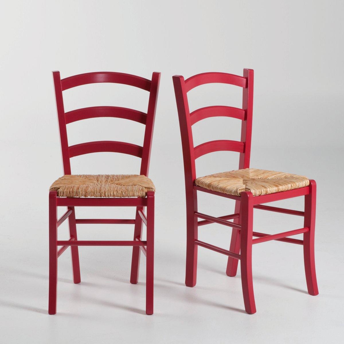 Стул с плетеным сидением, (2 шт.) PerrineХарактеристики стульев  Perrine :Необработанный массив бука, полиуретановое лаковое покрытие для моделей в цвете.Сидение из рисовой соломки.Всю коллекцию Perrine Вы найдете на laredoute.ru.Размеры стульев Perrine :Общие :Ш42,5 x В87 x Г43 см.Сиденье :Высота 44 смРазмер и вес с упаковкой :1 упаковкаШ51 x В97 x Г46 см12 кгДоставка на дом :Стулья с плетеным сидением Perrine доставляются в собранном виде. Доставка до квартиры !Внимание ! Убедитесь, что дверные, лестничные и лифтовые проемы позволяют осущетвить доставку коробки таких габаритов.<br><br>Цвет: красный