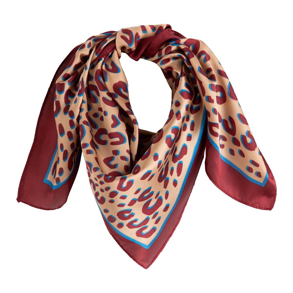 Foulard carré imprimé léopard