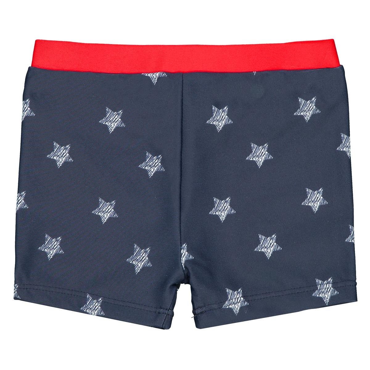 Плавки-боксеры La Redoute С рисунком звезды мес - года 9 мес. - 71 см синий шорты la redoute с рисунком мес года 6 мес 67 см синий