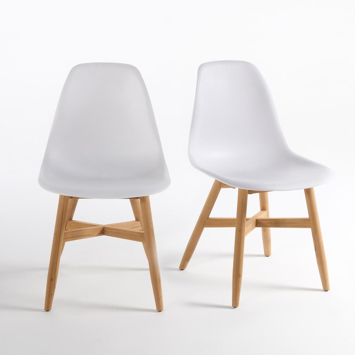 Комплект из 2 стульев для сада с сиденьем в форме раковины, JimiХарактеристики стульев для сада в форме раковины Jimi :Сиденье из полипропилена .Расширяющиеся ножки из тика FSC®*, с натуральной отделкой .Всю коллекцию садовой мебели, а также кресла Jimi вы можете найти на сайте laredoute.ruРазмеры стульев для сада Jimi :Общие размерыДлина : 46 смВысота : 82 смГлубина : 40 смСиденье : Ш.41,5 x Г.47 см Размеры и вес упаковки :1 упаковка :60 x 56 x В.51 см 9 кгДоставка:Товар продается готовым к сборке.Возможна доставка до двери по предварительной договоренности.Внимание! Убедитесь, что возможно осуществить доставку товара, учитывая его габариты (проходит в дверные проемы, лестничные проходы, лифты).*Ярлык FSC - Международный Лесной попечительский совет- гарантирует бережное использование природных ресурсов, сохранение биологического разнообразия и местных видов ® 1996 FSC.<br><br>Цвет: белый,черный