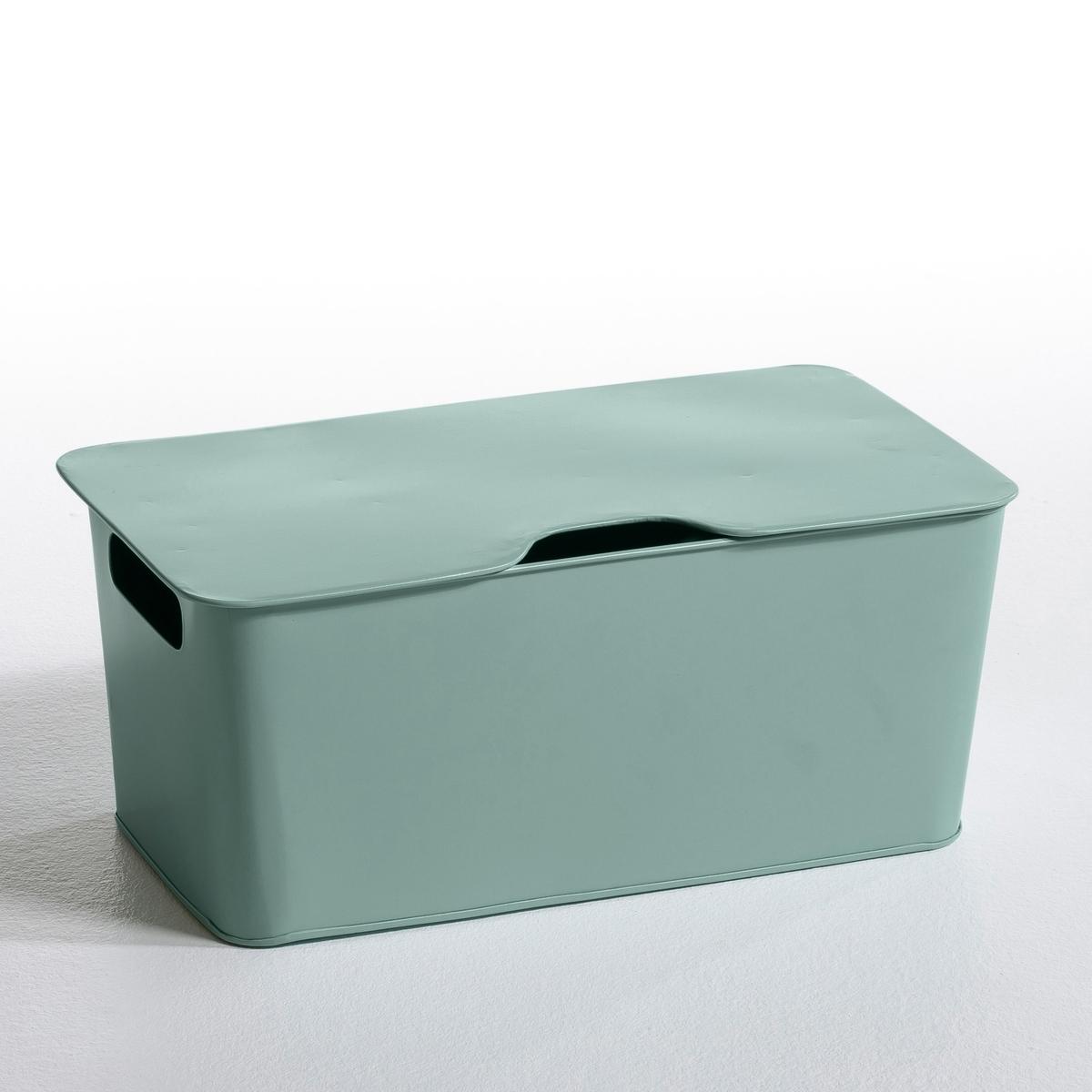 Image of ARREGLO Stackable Metal Storage Box, Large
