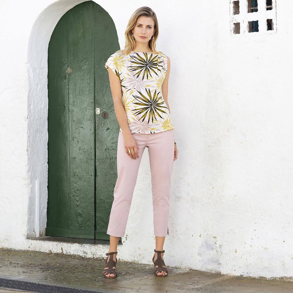 Imagen adicional 3 de producto de Pantalón pesquero bordado, algodón stretch - Anne weyburn