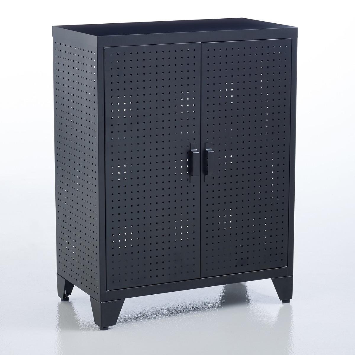 Шкаф LaRedoute С перфорацией Locker единый размер черный
