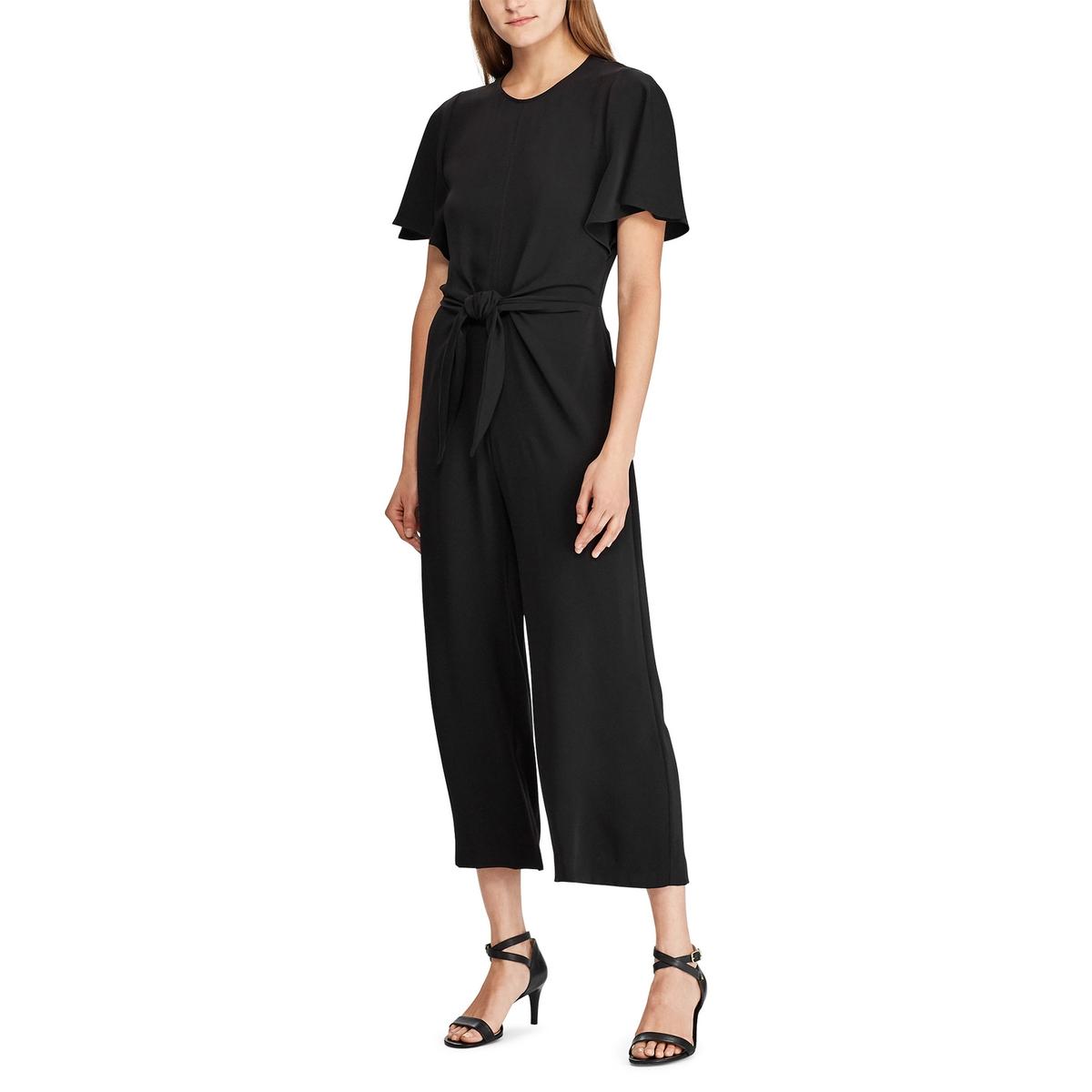 Комбинезон La Redoute С короткими рукавами 42 (FR) - 48 (RUS) черный платье la redoute расклешенное с короткими рукавами с гипюром 42 fr 48 rus черный