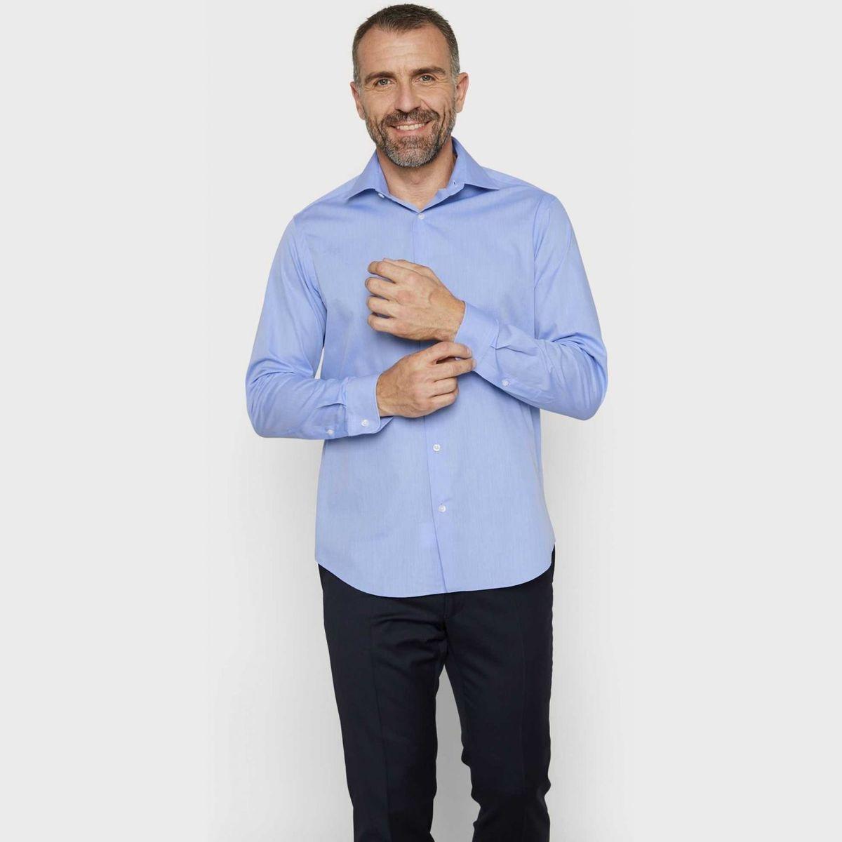 Chemise regular fit en fil à fil