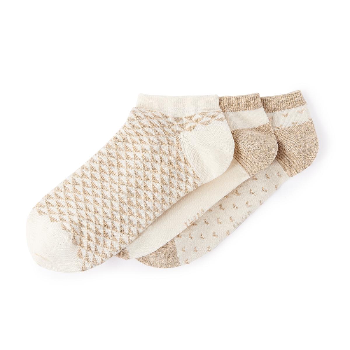 Комплект из 3 пар носков с волокнами с металлическим блеском