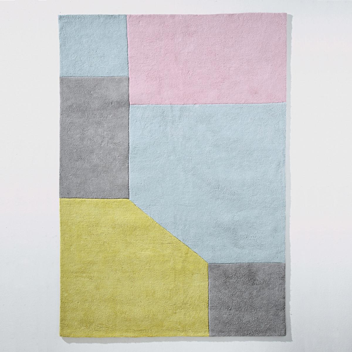 Tappeto in cotone tufté grafico, 2 misure, Dario