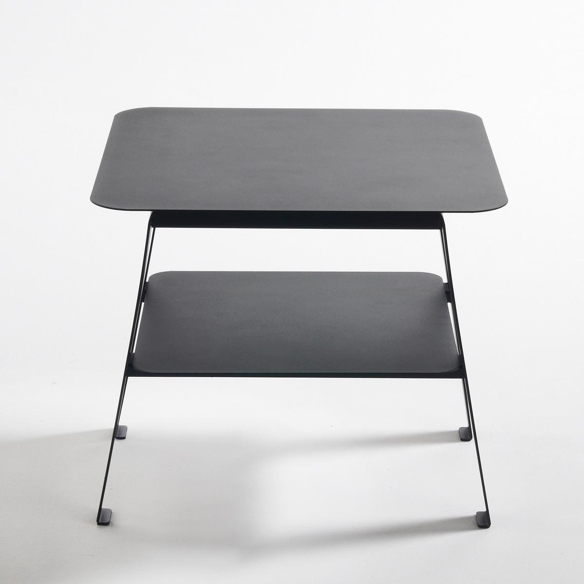 Столик диванный из стали, HibaОписание диванного столика Hiba :Две столешницы.Расположенные под небольшим углом ножки в стиле 50-х годов.Характеристики диванного столика Hiba :Матовая лакированная сталь, покрытие эпоксидной краской.Всю коллекцию Hiba вы можете найти на сайте laredoute.ruРазмеры диванного столика Hiba :Общие размерыШирина : 45 смВысота : 40 смГлубина : 45 смРазмеры и вес упаковки :1 упаковкаШ.59 x В.12,5 x Г.65,5 см9,5 кгДоставка:Доставка на этаж по предварительной записи!Внимание!Убедитесь в том, что размеры дверей, лестниц,лифтов позволяют доставить товар в упаковке до квартиры.<br><br>Цвет: черный