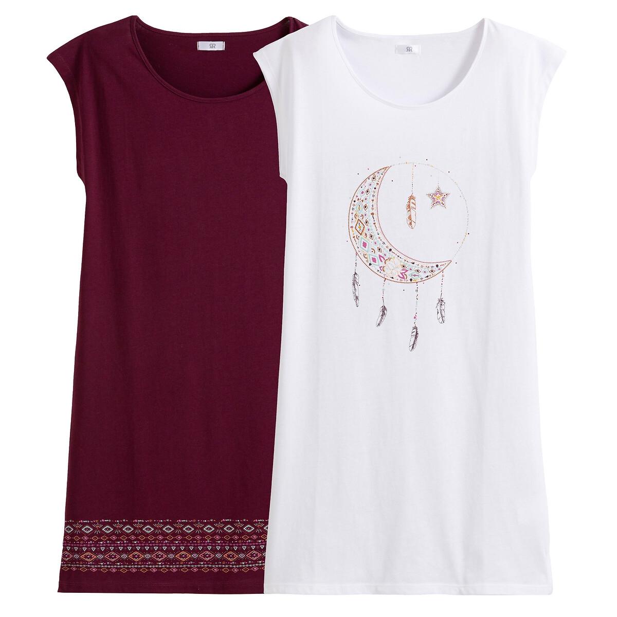 Lot de 2 chemises de nuit, pur coton