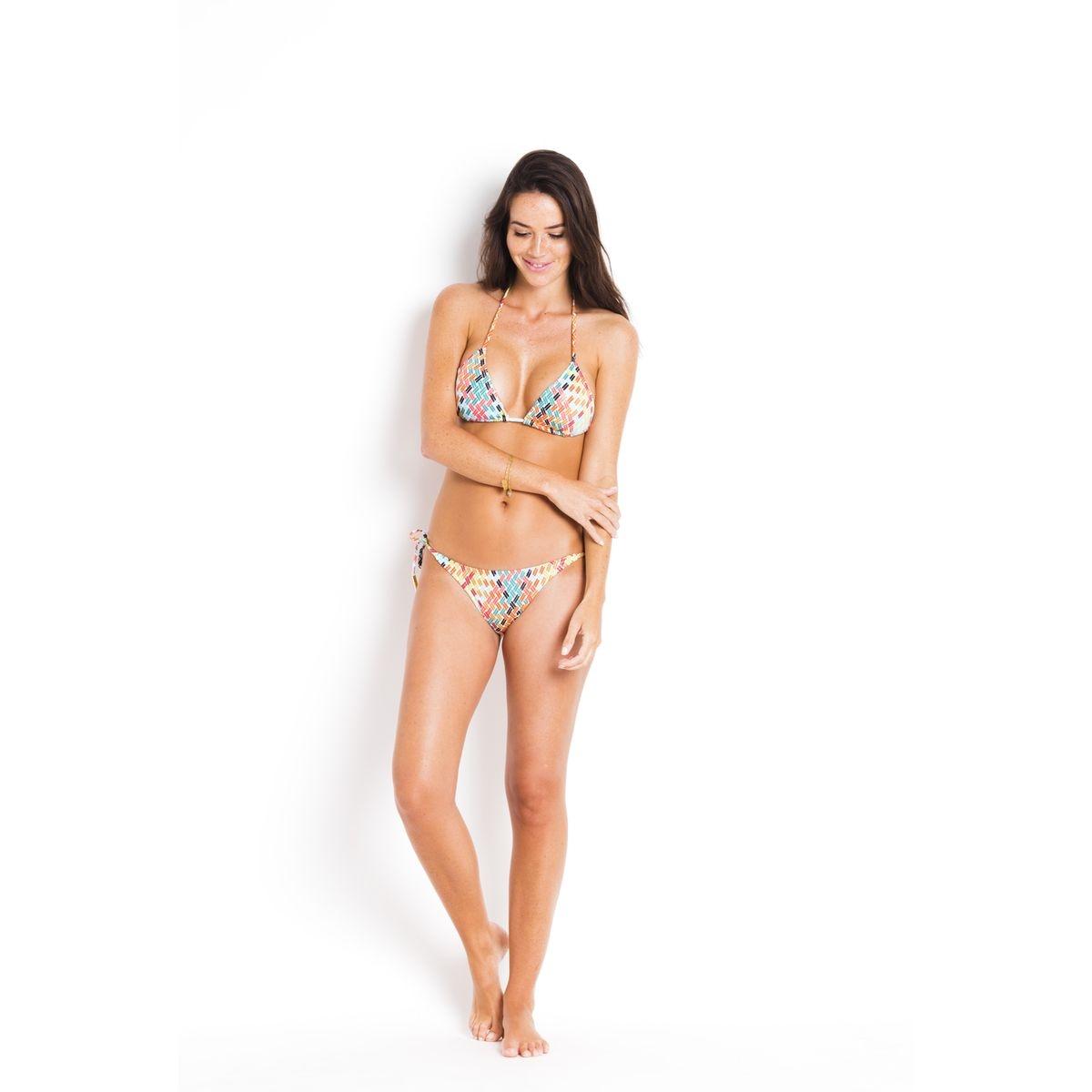 Bas de Bikini noué cotés   pointillé