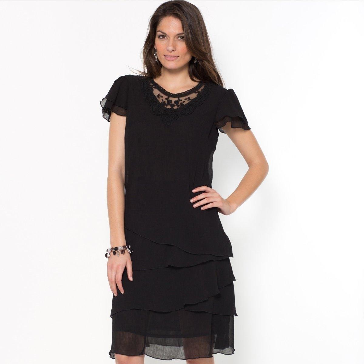Платье из жатого крепа