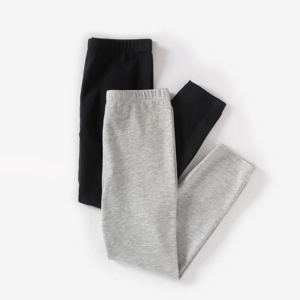 Леггинсы короткие (комплект из 2) 10-16 летКороткие леггинсы, 95% хлопка, 5%   эластана. Незаменимые и невероятно стильные! Придутся по душе маленьким модницам. Комплект из 2 . Эластичный пояс. Длина. до середины голени.<br><br>Цвет: черный + серый меланж<br>Размер: 16 лет