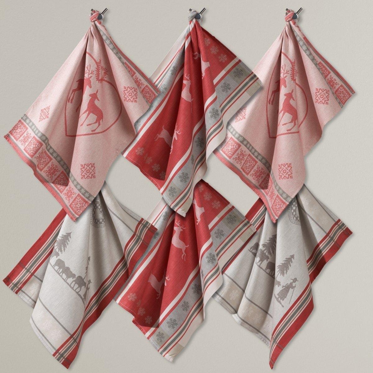 Комплект из 6 кухонных полотенец из жаккардовой ткани, 100% хлопок полотенца кухонные la pastel комплект кухонных полотенец gabel 6пр 50x70 primizie